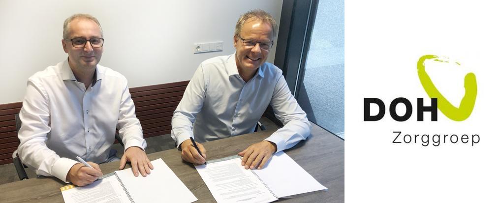 Samenwerkingsovereenkomst Vcare en zorggroep DOH door gelijkwaardige toekomstvisie